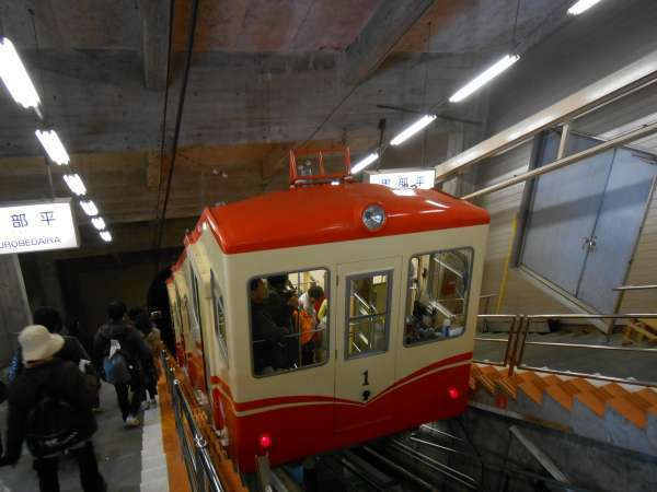 A cable car.