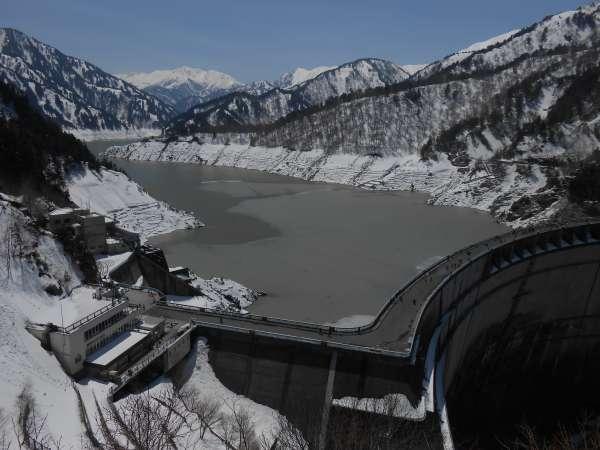 Kurobe Dam in early May.