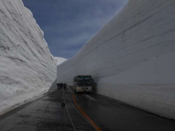 Big snow wall in Spring.