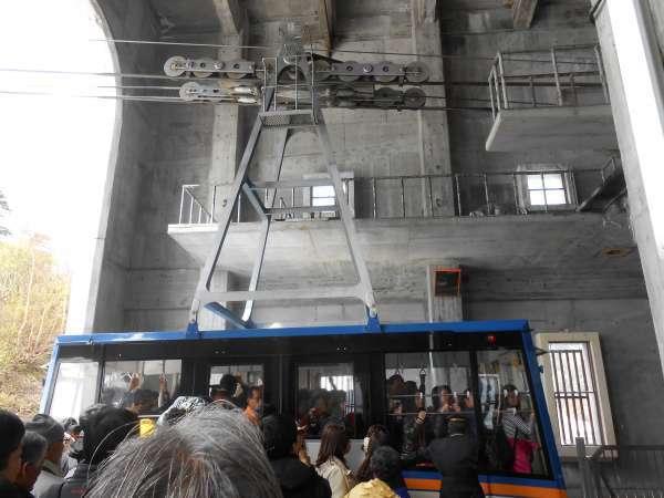Big ropeway passenger car.