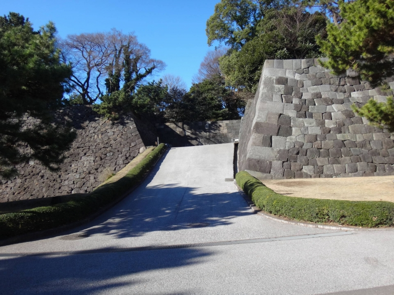 Stone Walls and paths in the Imperial Palace East Garden