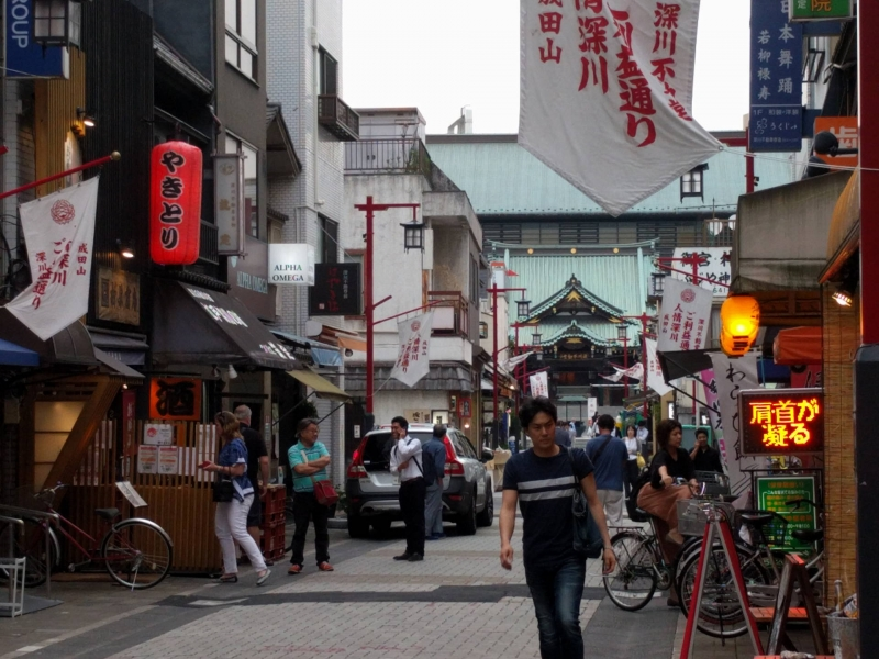 Front market street of Fukagawa Fudoh temple
