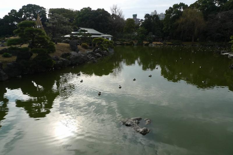 Edo period Japanese garden of Kiyosumi-teien in Fukagawa