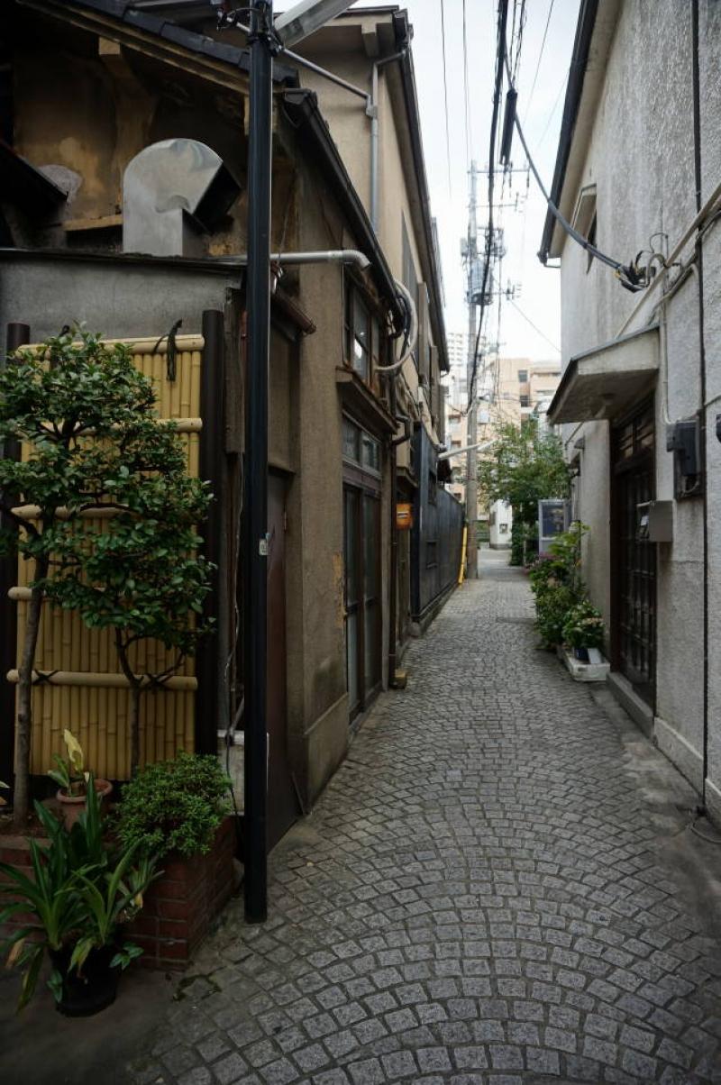 Quiet but unnamed street in Kagurazaka