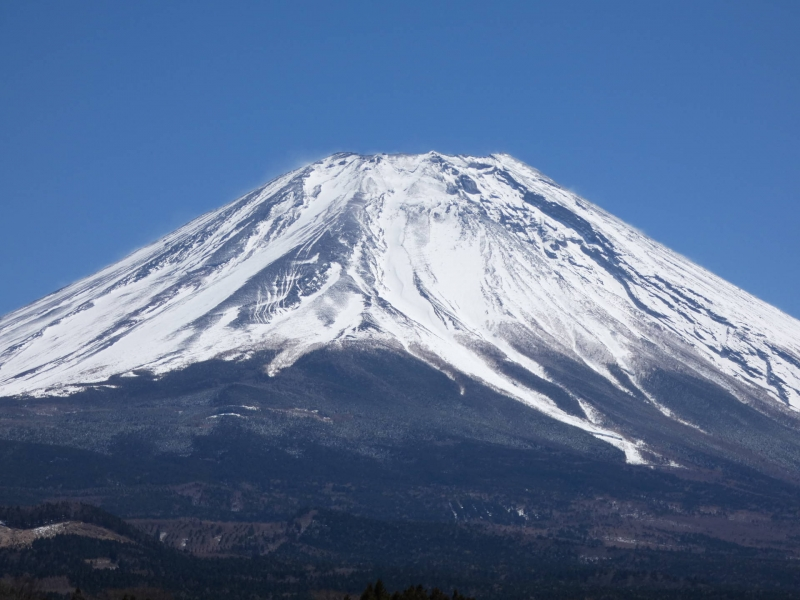 Mt.Fuji with freshly falle snow