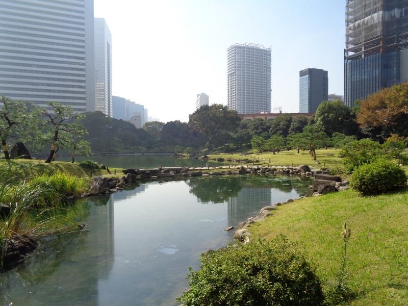 Hamal-rikyu-Park, beim Fluss Sumida
