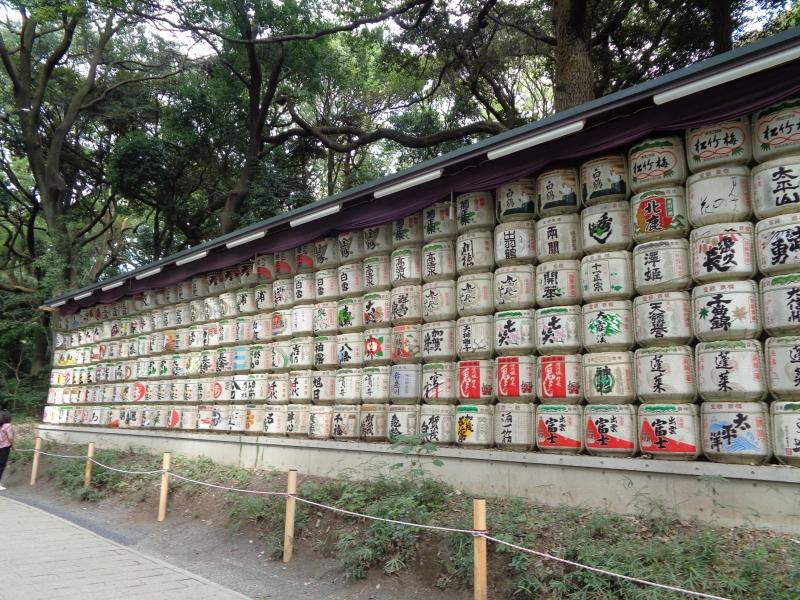 der japanische Sake im Strohfaß, gewidmet jedes Jahr