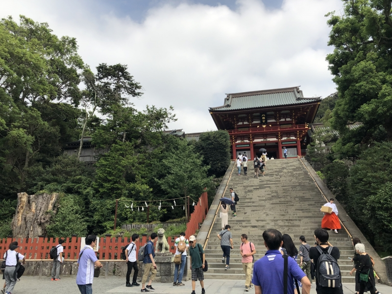 Tsurugaoka Hachiman Shrine This is the largest shrine in Kamakura revered as the Grand Guardian deity of the Kanto region. The shrine became the patron saint and spiritual foothold for samurai warriors and the belief that its deity was the protector of the nation spread throughout Japan.