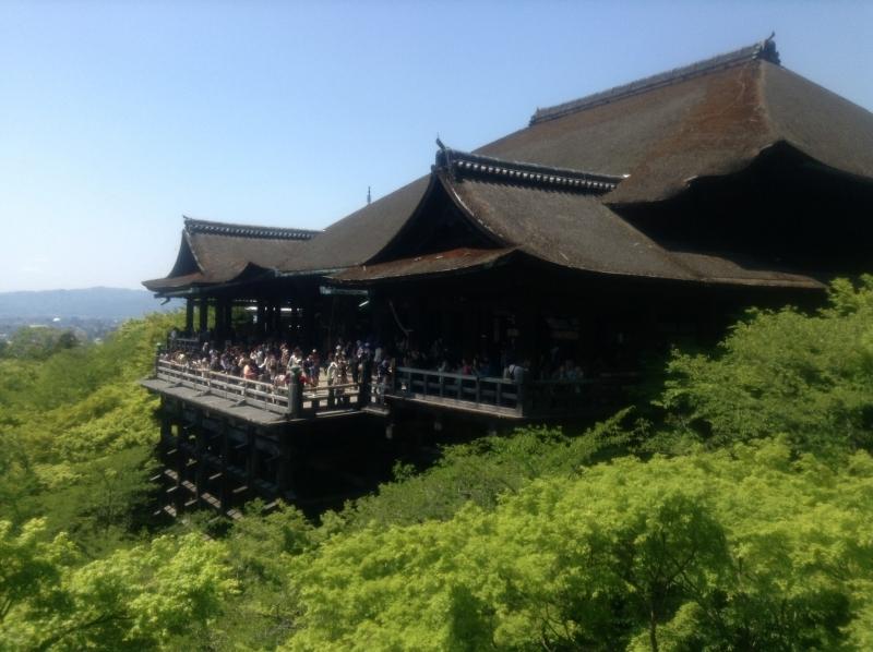 This main hall of Kiyomizu temple