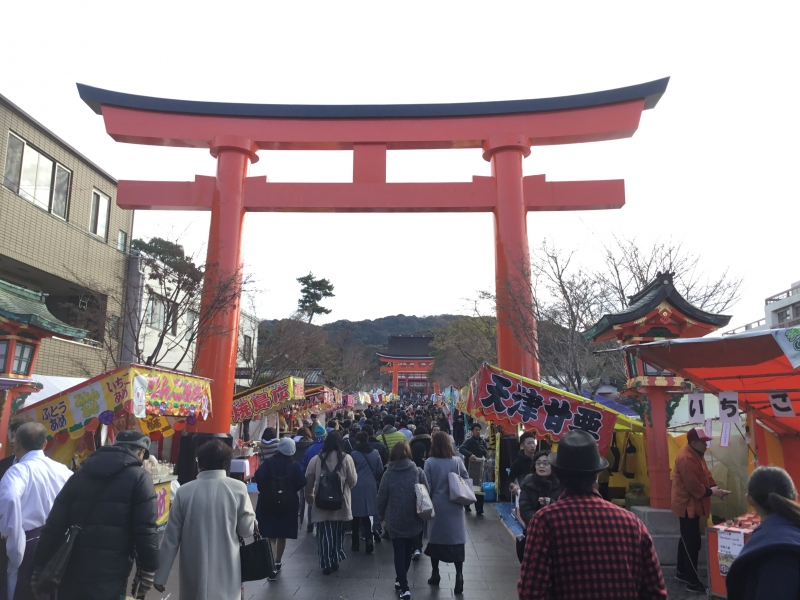 Fushimi-inari shrine was founded in early 8th century.