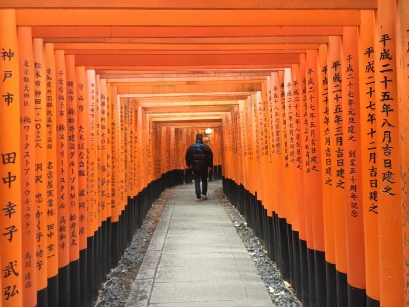 Torii gates in Fushimi-Inari shrine