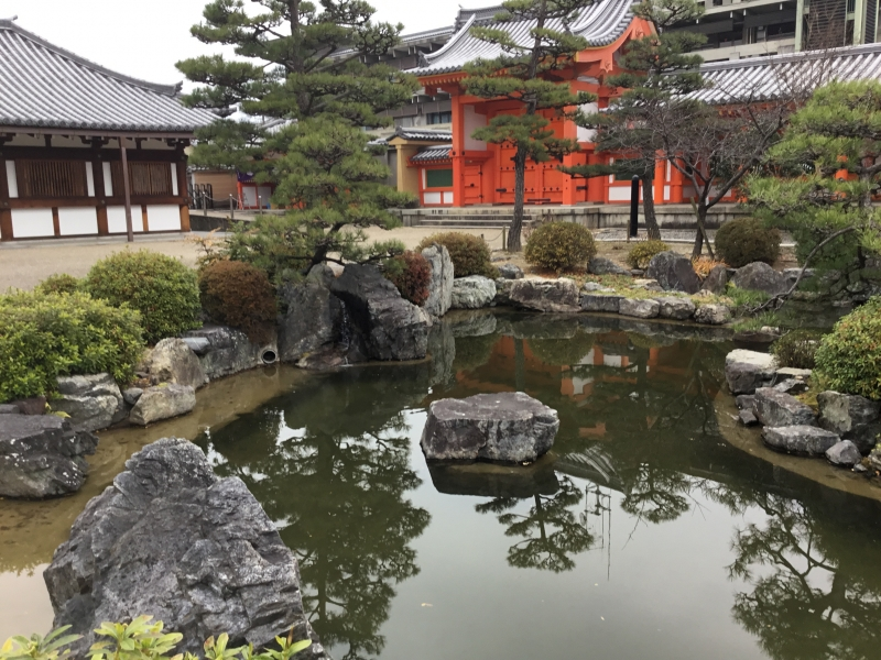 Garden inside Sanjusangendo temple