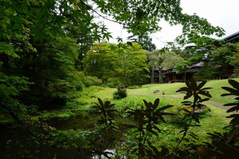 Japanese landscape garden at Tamozawa Imperial Vila