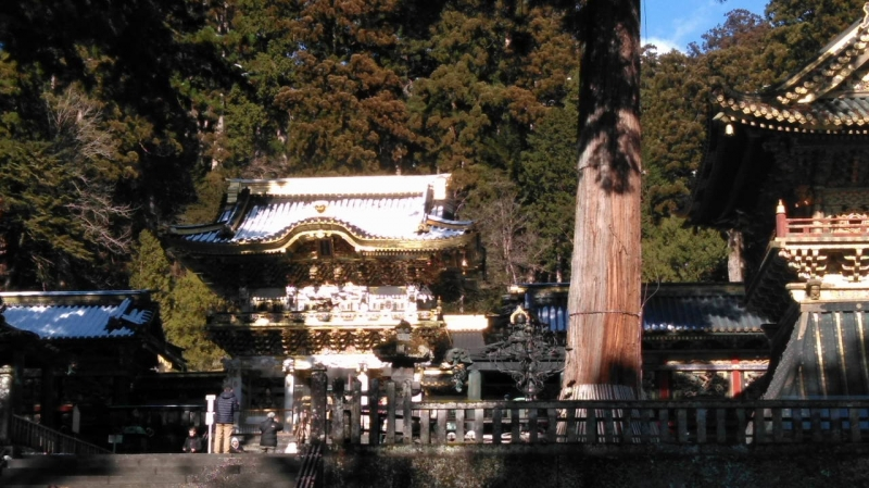 Yomeimon  Gate, called Sunset Gate for its timeforgetting beauty,  covered by snow