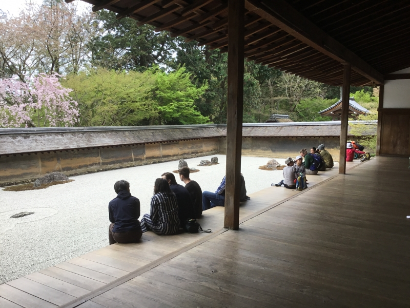 Ryoanji temple was constructed in 1450
