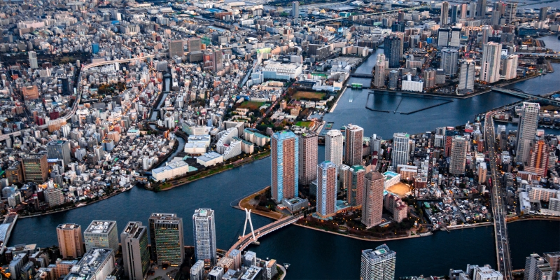[15 Minutes] Tokyo Tour: Riverside and Bayside Tokyo Helicopter Tour