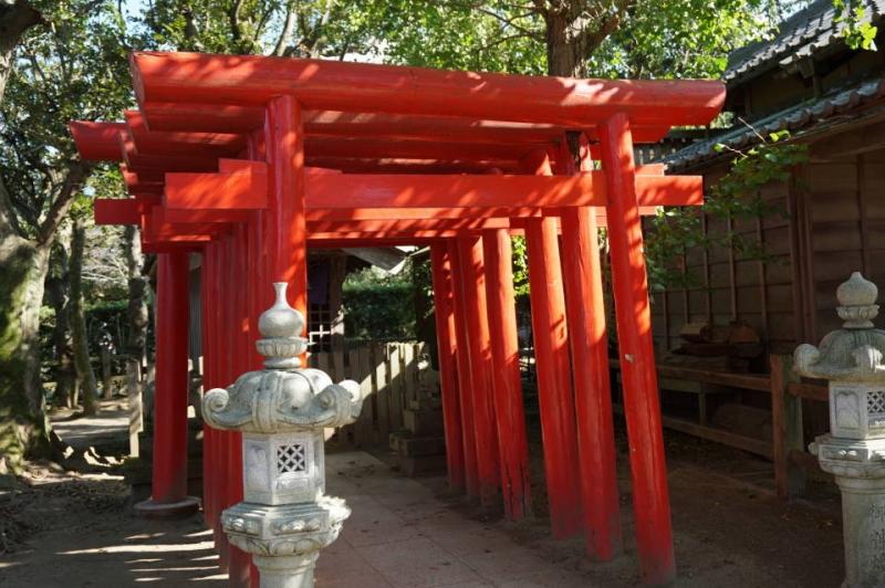 Inari shrine and Red Torii gate Tunnel