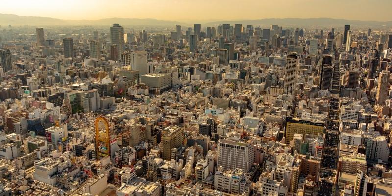 [18 min] Osaka : Helicopter Tour Around Tsutenkaku, USJ