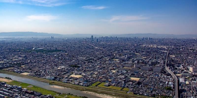 [18 Minutes] Osaka Tour : Cultural Heritage Helicopter Tour