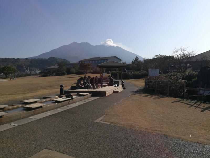 九州最長的足浴之一!在火山脚下的熔岩公園内享用!