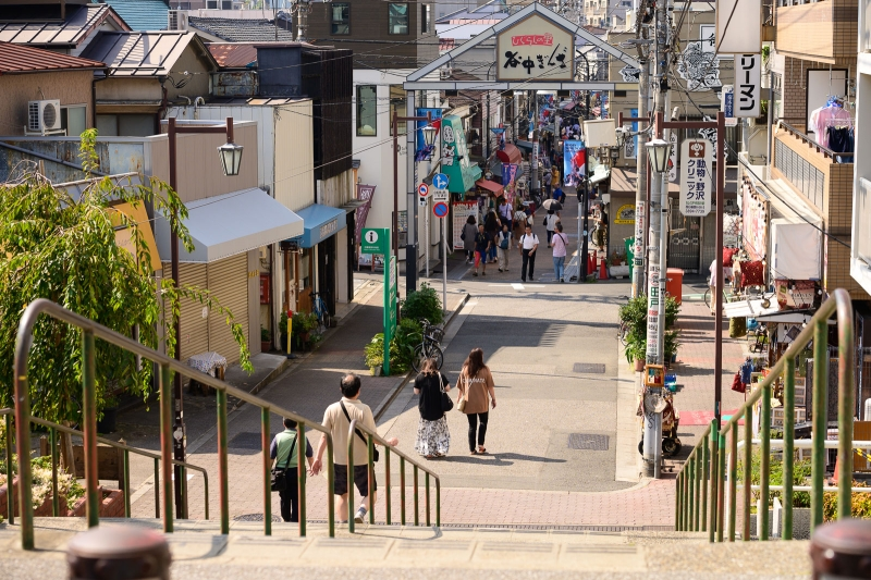 (A)Yanaka - Yanaka-ginza is local shopping street loved by Japanese people for its nostalgic atmosphere.