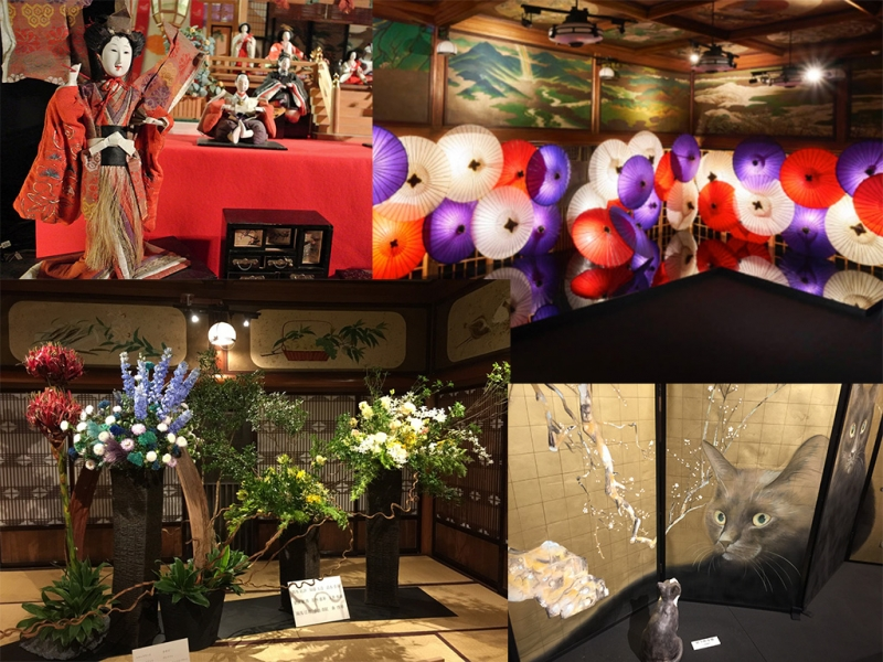 (E) Meouro gajoen - my favorite spot, holding various type of exhibitions of Japanese art throughout the year.