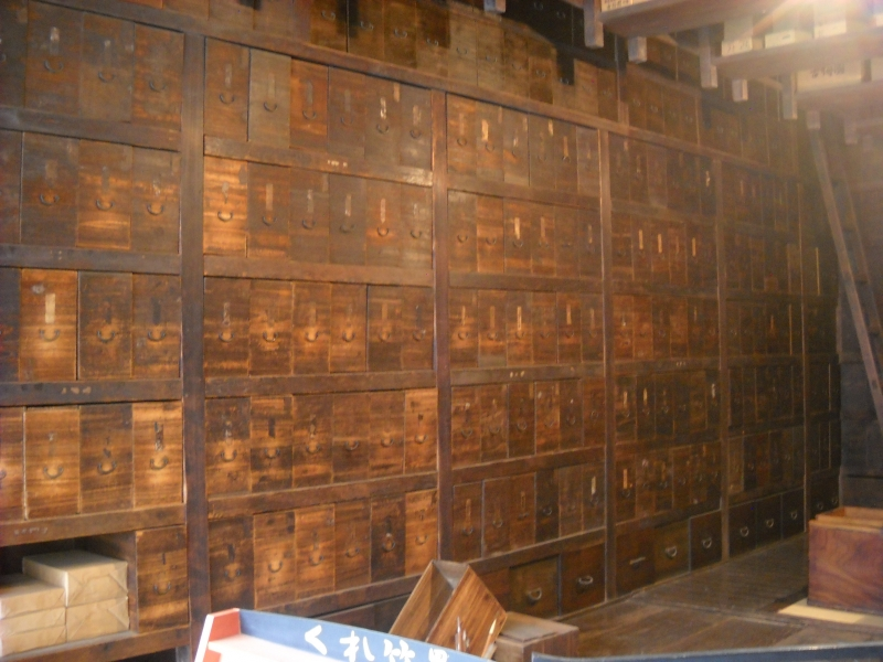 Inside of Takei-Sanshodo, statinaries wholesale.  (Seed of imagination for Kamaji's boiler house)