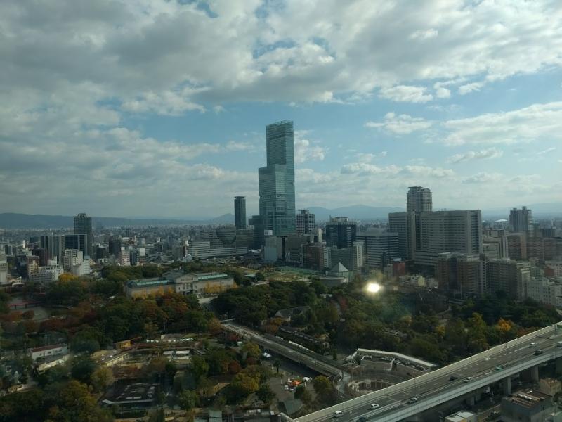 View from Tsutenkaku tower in shinsekai area