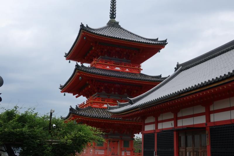 Kiyomizudera Temple, three story pagoda