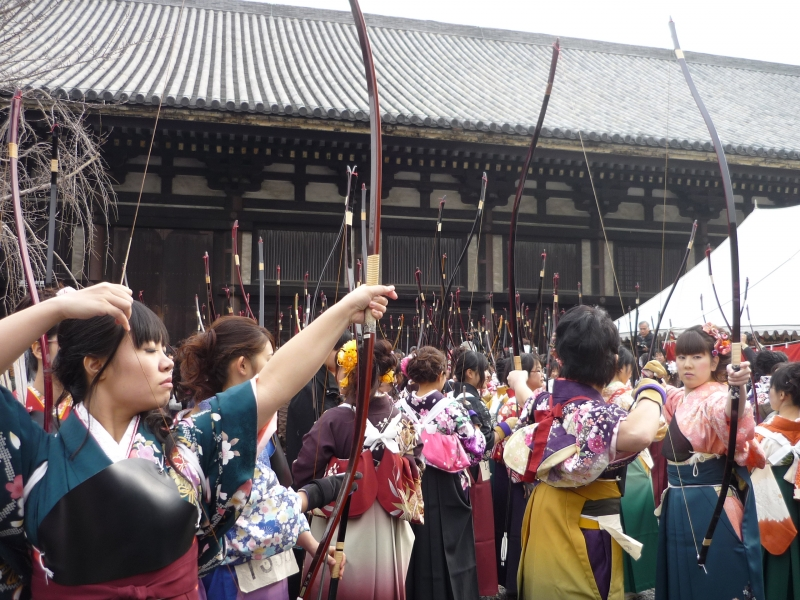 Sanjusangendo which is famous for the Archery contest