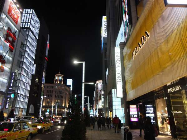 (Prada) Ginza at night