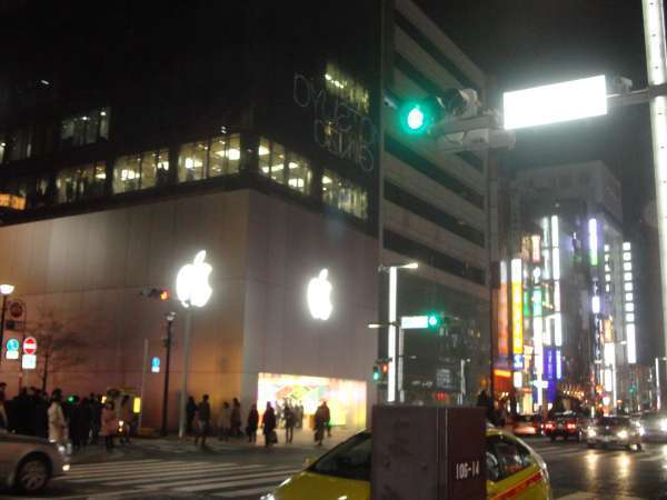 (Apple) Ginza at night