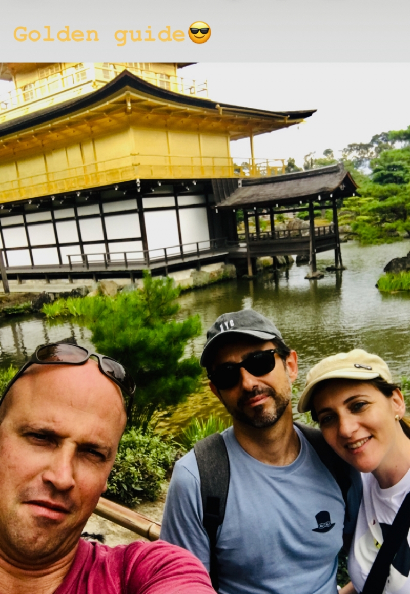 At the Golden Pavilion, a very good chance to talk about the particularities of the Kyotoite architecture and the particularities of Buddhism in Japan and what makes it so different than Buddhism in other countries...And of course; a good chance to contemplate the harmony of its beautiful zen garden.