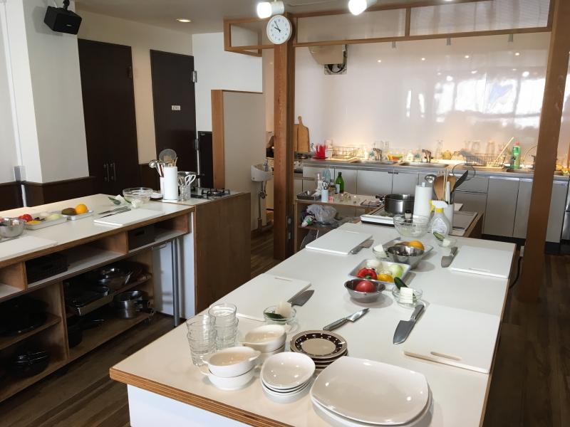 The cooking studio,