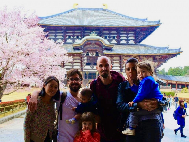 At theTodai ji in Nara, one of the largest wooden structures in the world, and an icon of the monumental and unusual type of temples in Japan. Built up with the main purpose of impressing the citizens at a former time when Buddhism was in phase of expansion and was used as propaganda by the emperor.