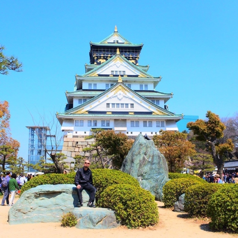 The Osaka castle, a great place to be put in context, I would like very much to talk about the history of this castle which reflects the history of the city. Everything I will tell you will be also complemented by very illustrative mock ups, samples and models inside the building.