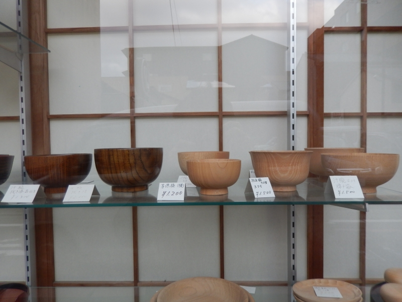 Urushi is a Japanese lacquer which is used for not only dishes but also boxs, cups, and other craftworks (Lacquerware). You can make your own lacquerware (There is a starters-kit). In this picture two dishes in right side are before coating urushi, and two dishes in left side are after coating urushi.