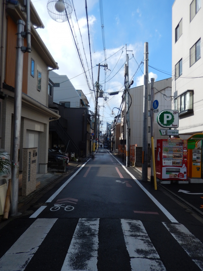 Matsubara street used to be very busy street, but now It is not. There are lots of traditional shop, but they are closing and are rebuilt into houses like hotel inn.