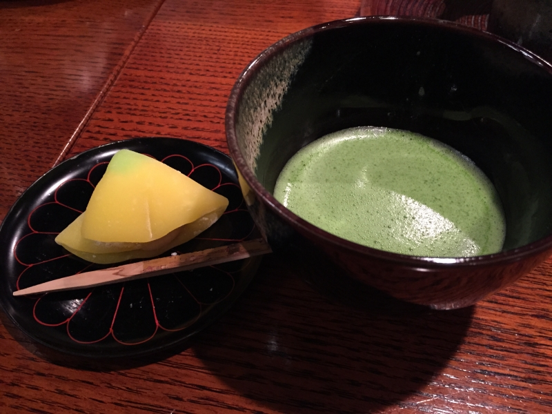 Japanese tea and sweets.