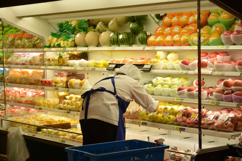 After walking in the residential area, you are going into the nearby supermarket, where you can find lots of things that are different from the ones you have in your country, not just kinds of fruits, vegetables and other things displayed but the layout of each section in the supermarket.
