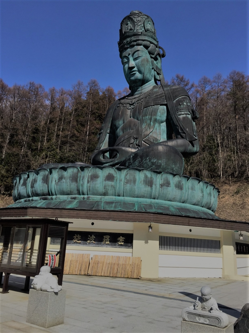 This is the Japan's tallest seated bronze statue of Buddha in Seiryuji Temple.