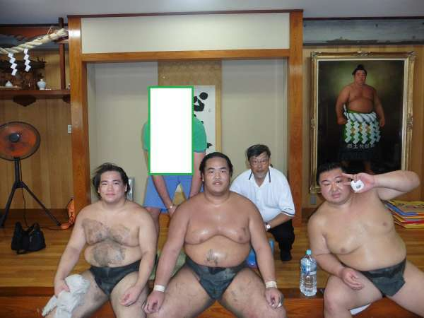 Sumo morning training session. .