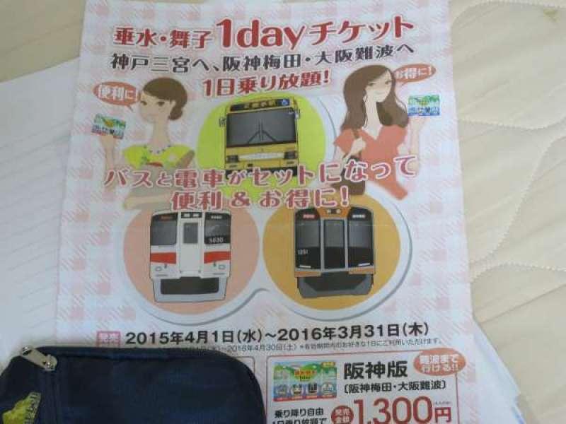 周游票(从大阪到舞子、垂水等等)