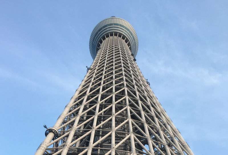 Tokyo Skytree (634 meters in height)