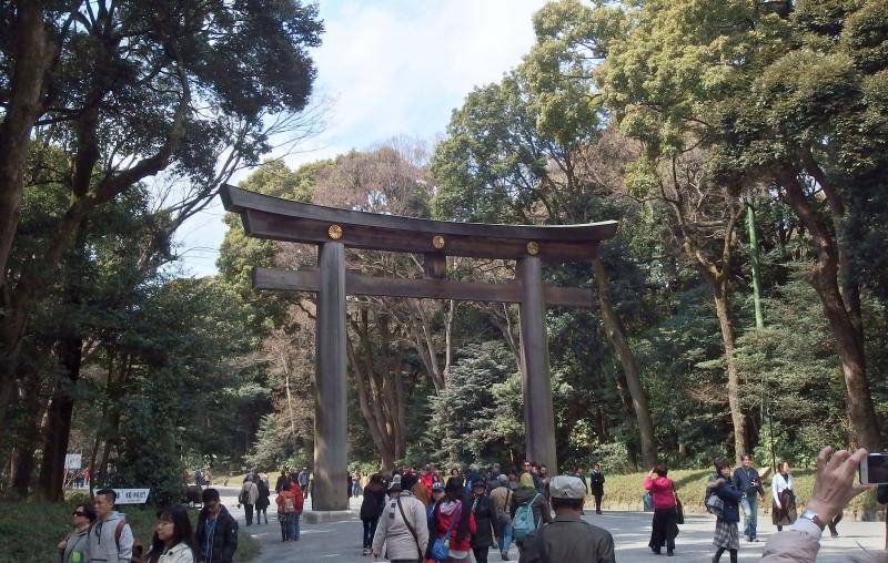 One of the largest torii gateways in Japan (Meiji Jingu Shrine)