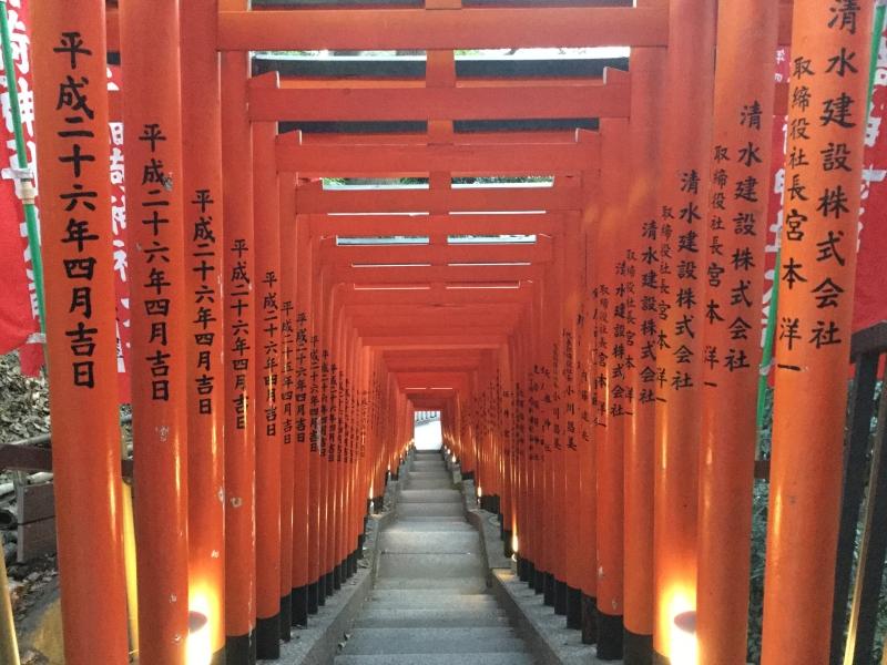 Torii gates corridor (Hie Jinja Shrine)