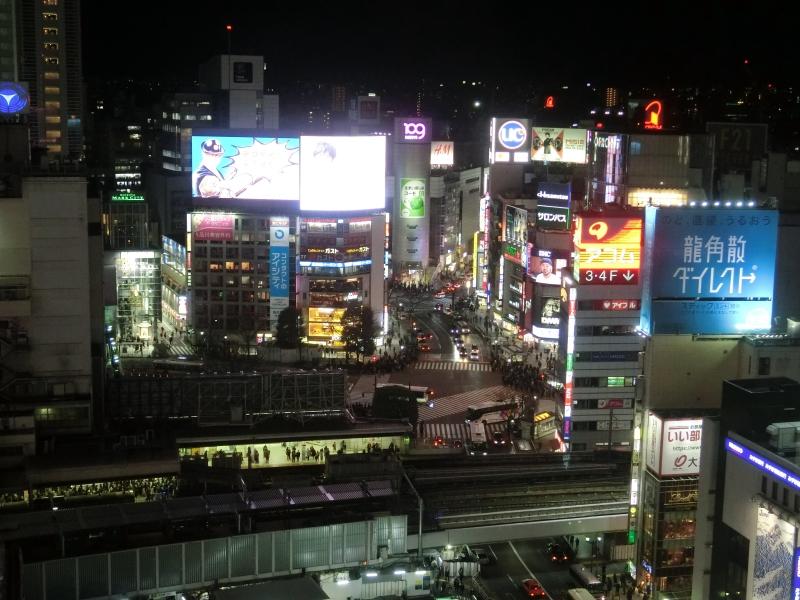 Night view of Shibuya (Shibuya109)