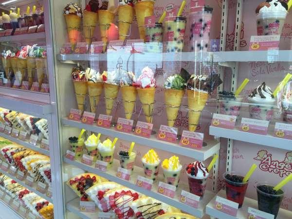 Sweets on Takeshita Street.