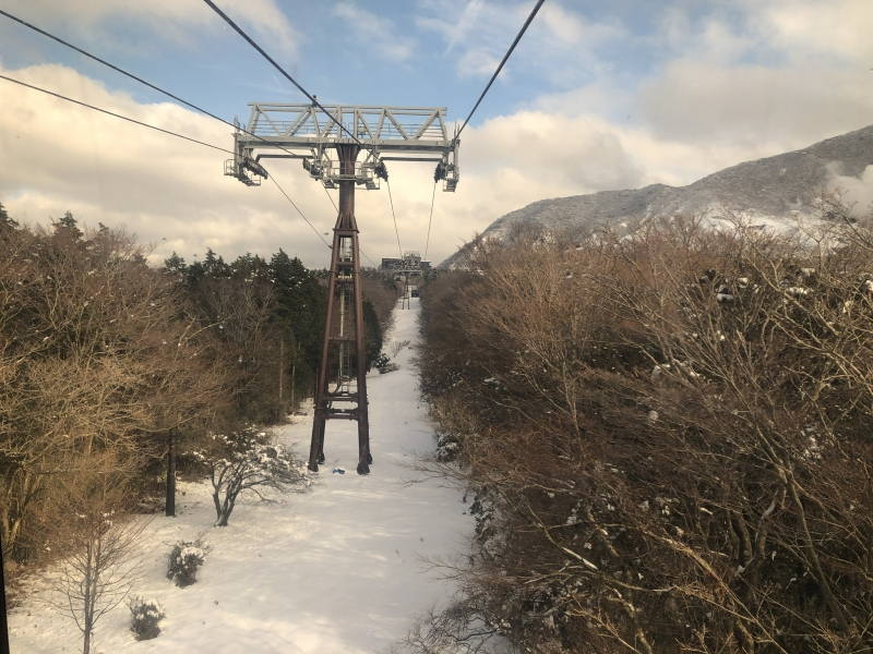 Mount Owakudani in winter season.