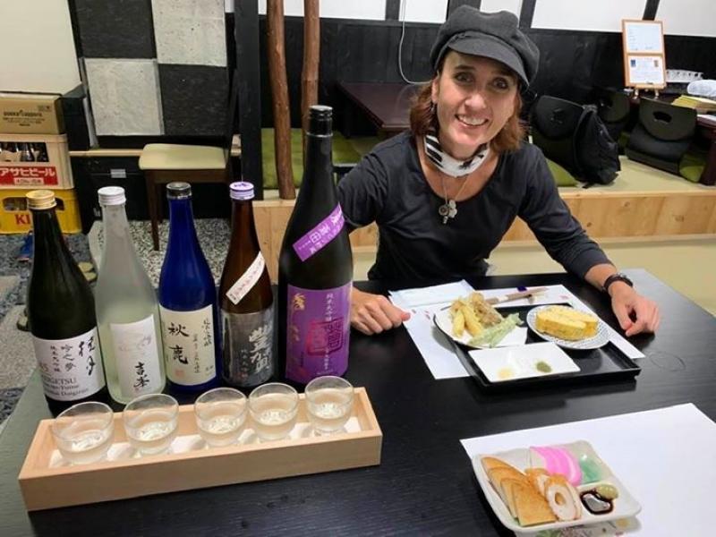 Sake tasting